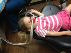 First cavity filling. #Mommyfail.