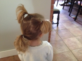 """I want three ponytails."""